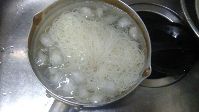 素麺 氷水しめ